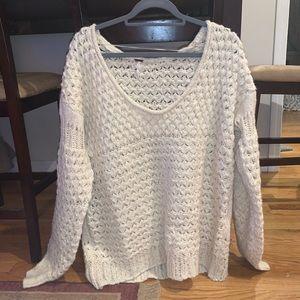 tan sweater from free people!